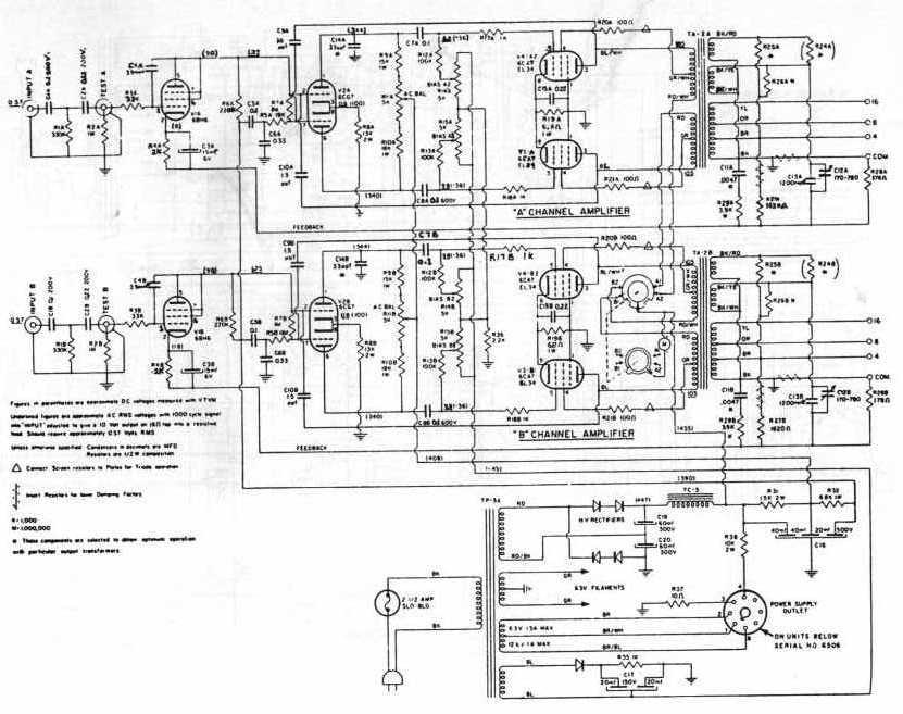 Untitled Doent on marantz 8b amplifier, fisher x 1000 schematic, mcintosh mc275 schematic, marantz 8b power supply,